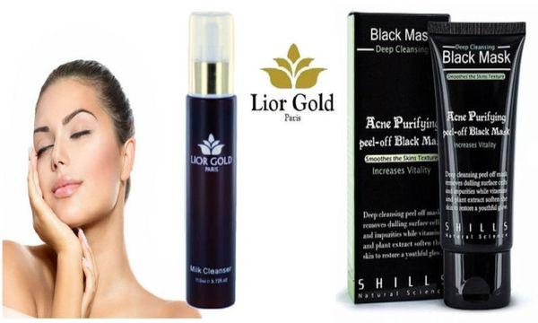 Lior Gold Milk Cleanser & Shills Purifying Deep Cleansing Peel-off Black Mask Set