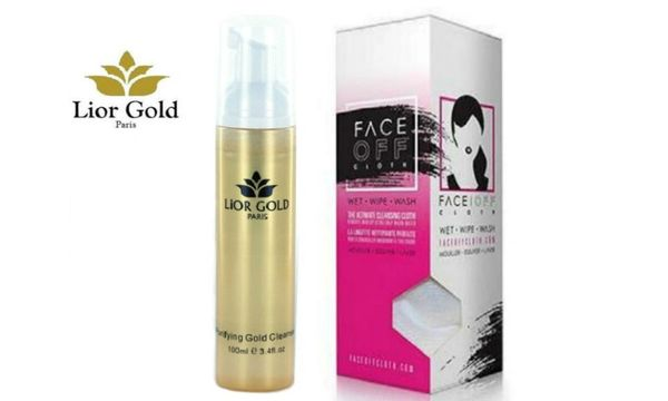 Lior Gold Paris Purifying Gold Cleanser & Face off Cloth Set