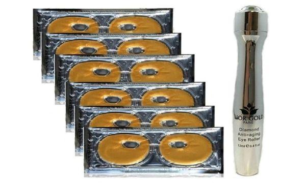 Lior Gold Paris Eye Mask 6pc+Lior Gold Paris Diamond Eye Roller Set
