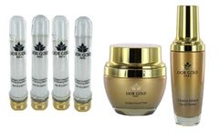 Lior Gold Collagen Intensive Masks-4, Gold Peel & 24KVitamin Serum SET