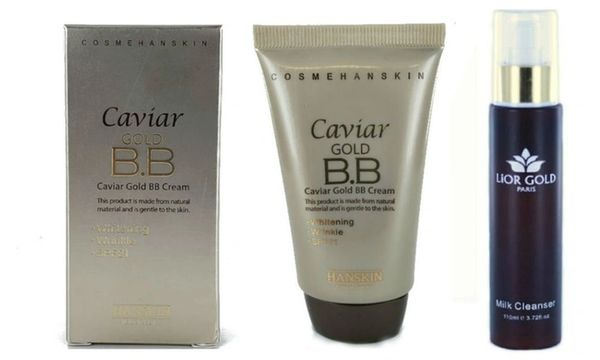 Hanskin Caviar Gold BB Cream 43.5g+Lior Gold Paris Milk Cleanser Set