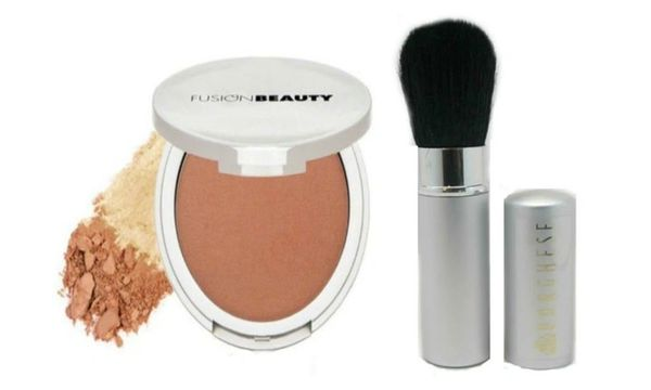 Fusion Beauty Glow Fusion Micro-Tech Bronzer+Borghese Silver Brush Set