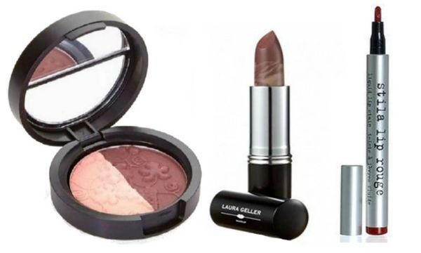Laura Geller Eyeshadow Duo+Berry Banana Lipstick+Stila Lip Rouge Set