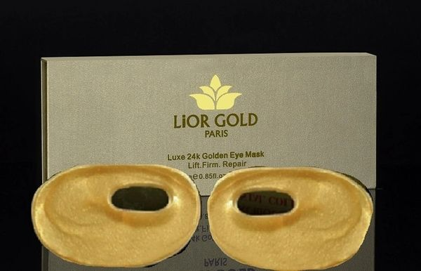 Lior Gold Paris Luxe 24K Golden Eye Mask (6-Pieces)
