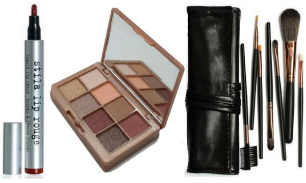 Khroma Beauty Kourtney's Kardazzle&Stila Lip Rouge +Dollface 7pc Brush Set