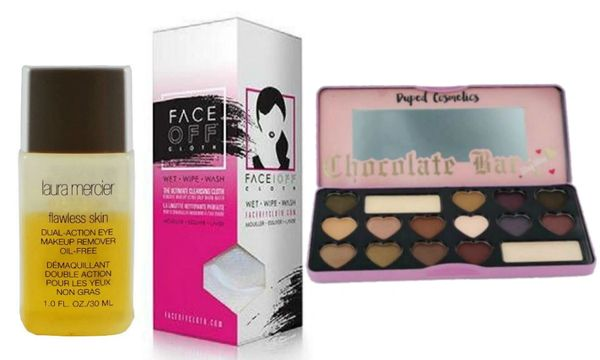 Laura Mercier Eye MakeUp Remover &Face Off Cloth+Candy Bar Eyeshadow Set
