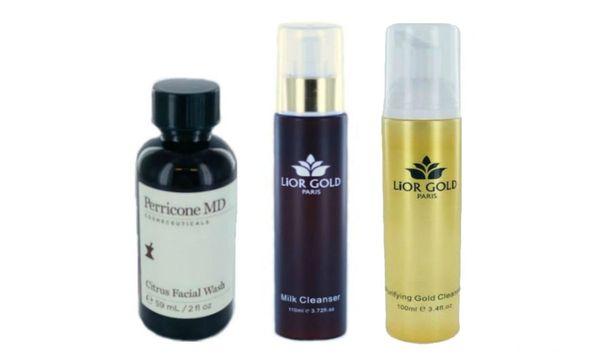 Perricone Citrus Facial Wash+Lior Gold Paris Milk &Purifying Cleanser Set