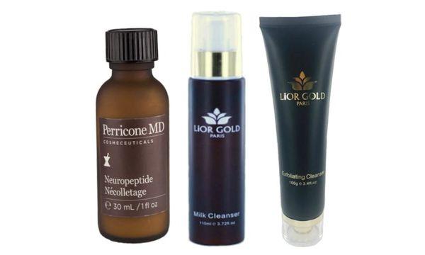 Perricone MD Necolletage+Lior Gold Paris Milk & Exfoliating Cleanser Set