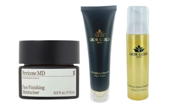 Perricone MD Moisturizer+Lior Gold Exfoliating+Purifying Cleanser Set