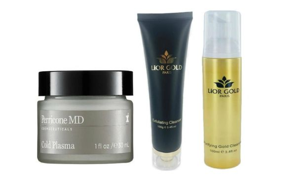 Perricone MD-Cold Plasma+Lior Gold Exfoliating+Purifying Cleanser Set