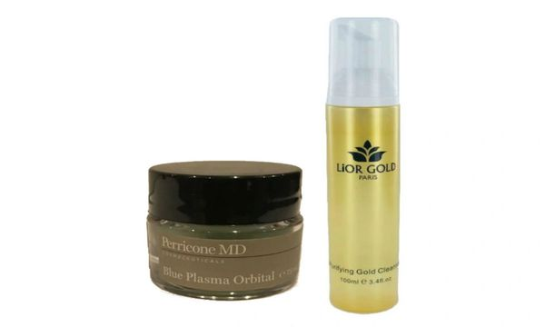 Perricone Md Blue Plasma Orbital + Lior Gold Purifying Cleanser Set