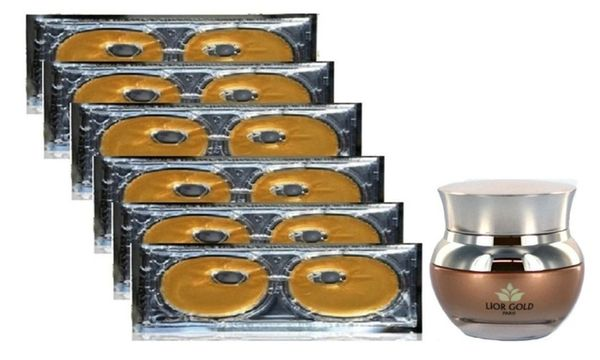 Lior Gold Paris Eye Mask 6pc+Lior Gold Paris Nano Sleeping Mask Set