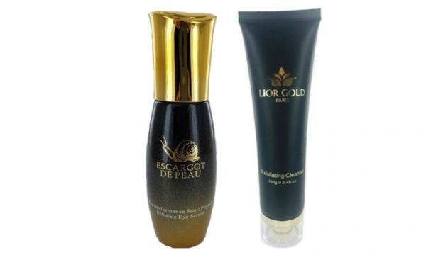 Escargot de Peau Ultimate Eye Serum+Lior Gold Exfoliating Cleanser Set