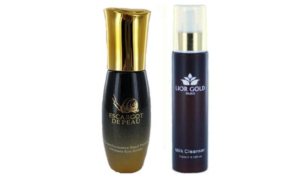 Escargot de Peau Ultimate Eye Serum+Lior Gold Paris Milk Cleanser Set