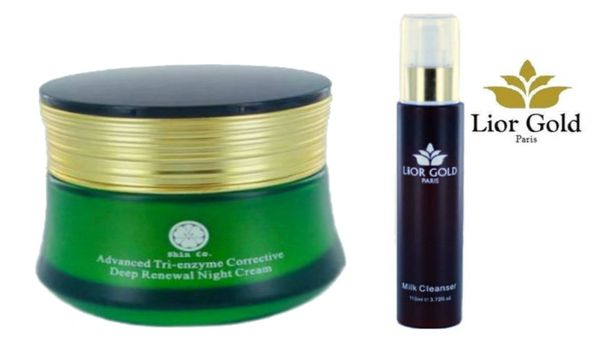 Shin Co Deep Renewal Night Cream+Lior Gold Paris Milk Cleanser Set