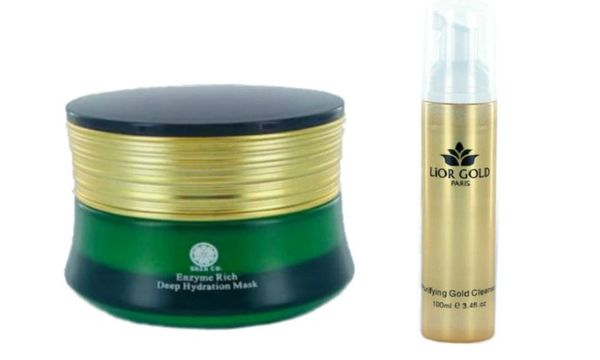 Shin Co Deep Hydration Mask+Lior Gold Purifying Gold Cleanser Set