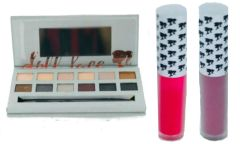Doll Face Smoke Eyeshadow Palette & 2Pcs Doll Face Matte Lipstick Set