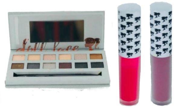 Doll Face Smoke Eyeshadow Palette & 2Pcs Doll Face Matte Lipstick Set