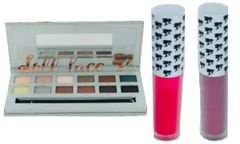 Doll Face Neutral Eyeshadow Palette &2Pcs Doll Face Matte Lipstick Set