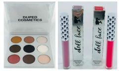 The Smoky Palette by Duped+2Pcs Doll Face Matte Lipstick Set
