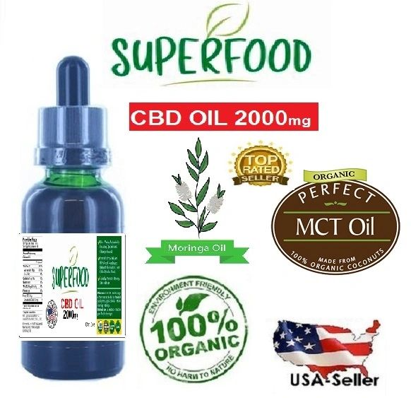 Organic Superfood Oil (Moringa oil, MCT oil, CBD) 1oz / 30ml