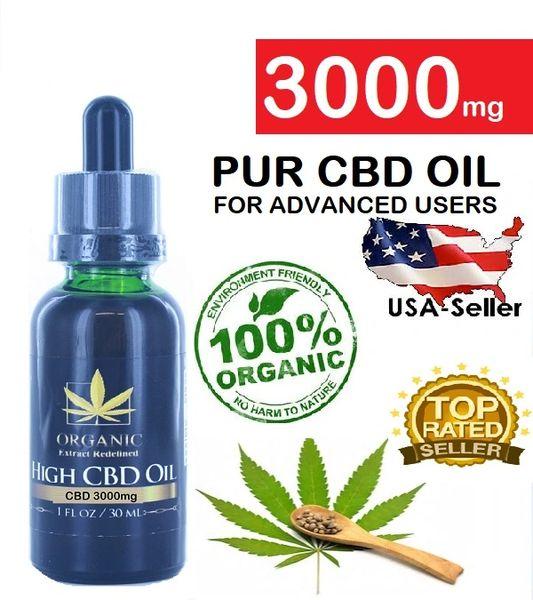 Organic High CBD Oil 3000Mg (30ml)