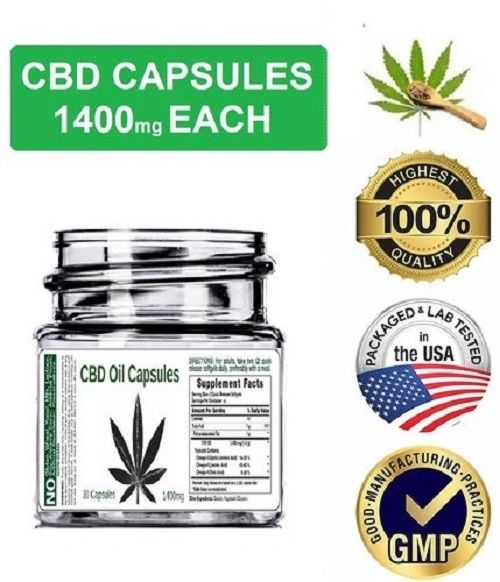 CBD Oil Capsules 1400mg each (30 Capsules)