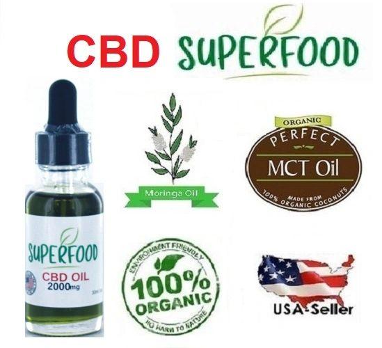 Organic CBD Superfood Oil (Moringa oil, MCT oil, CBD) 1oz / 30ml