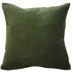 Majestic Velvet/Linen Cushion- Khaki