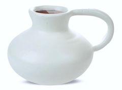 Matte White Ceramic Bulb Vase- Medium