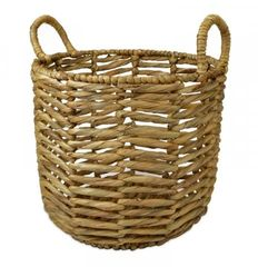 Open Weave Hyacinth Basket