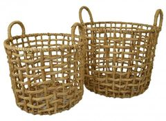 Square Weave Hyacinth Basket