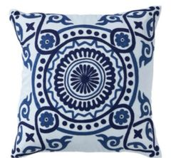 Santorini Embroidered Cushion