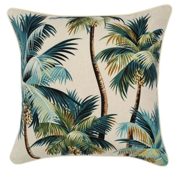 Outdoor Cushion- Palm Trees Natural
