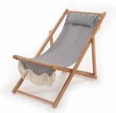 Sling Chair Navy Stripe by Business & Pleasure Co.