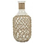 Jute Glass Bottle