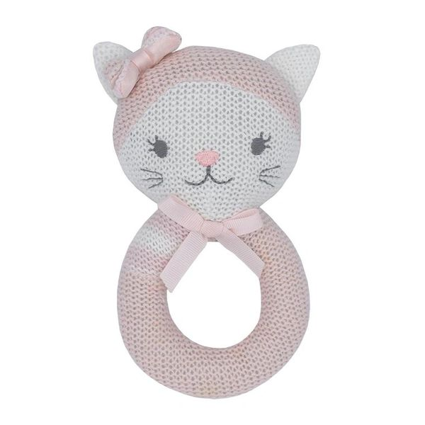 Knitted Rattle- Daisy the Cat