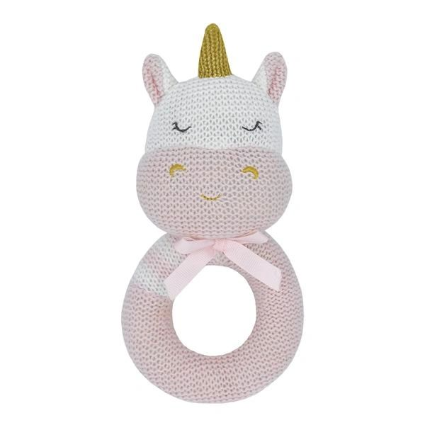Knitted Rattle- Kenzie the Unicorn
