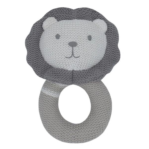 Knitted Rattle- Austin the Lion
