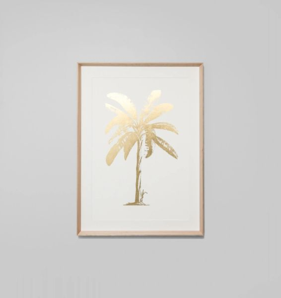 Gold Foil Tropical Palm 1