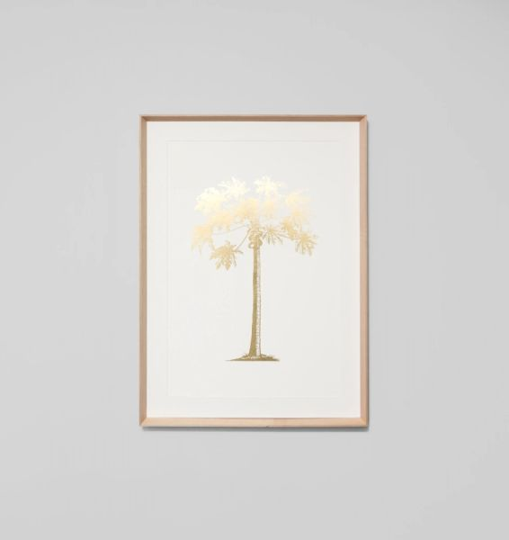 Gold Foil Tropical Palm 2
