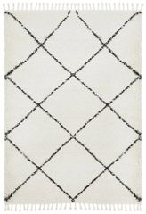 Saffron Diamond Rug- Black