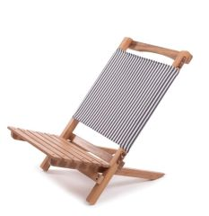 2 Piece Beach Chair- Navy Stripe