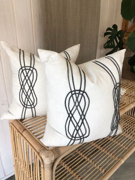 Embroidered Rope Cushion