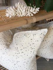 Terrazzo Print Linen Cushion
