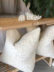 Vintage Flower Linen Cushion