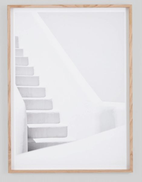White Washed Steps Framed Prints