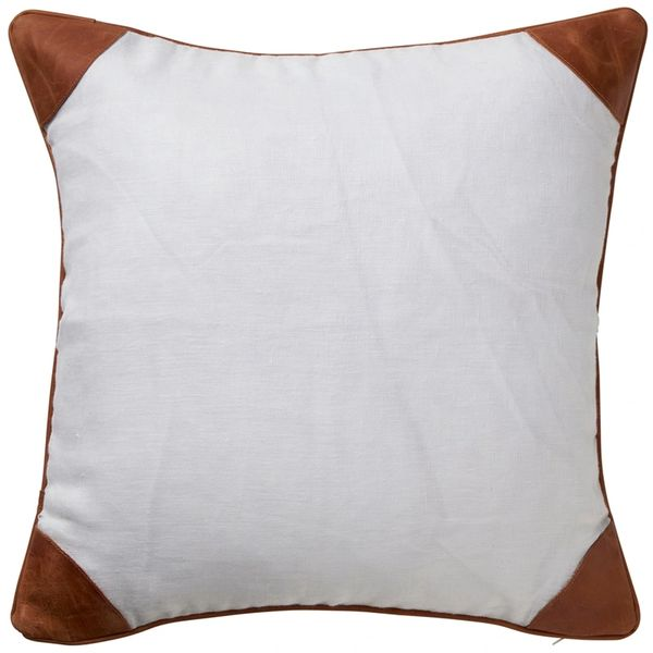Linen & Leather Cushion