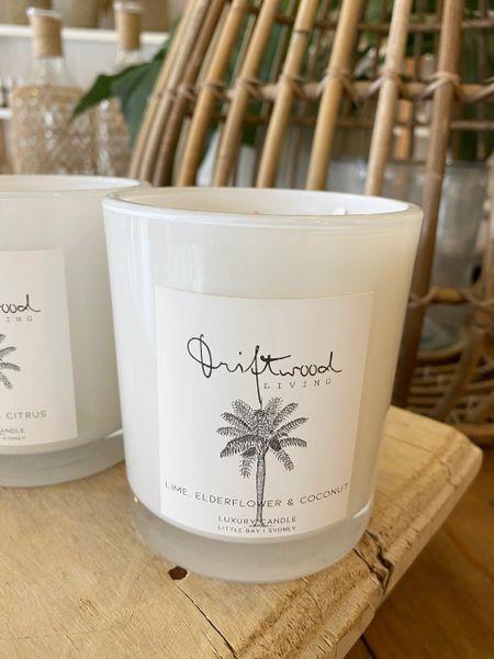 Soy Candle- Coconut, Lime & Elderflower