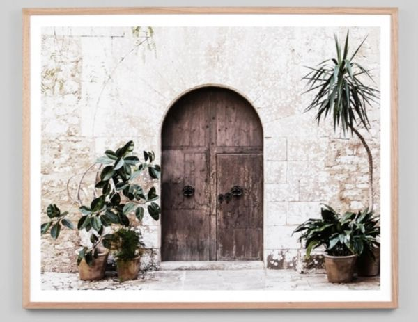 Villa Door Framed Print